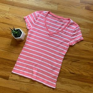 Tommy Hilfiger | Striped | V-Neck Tee | Medium